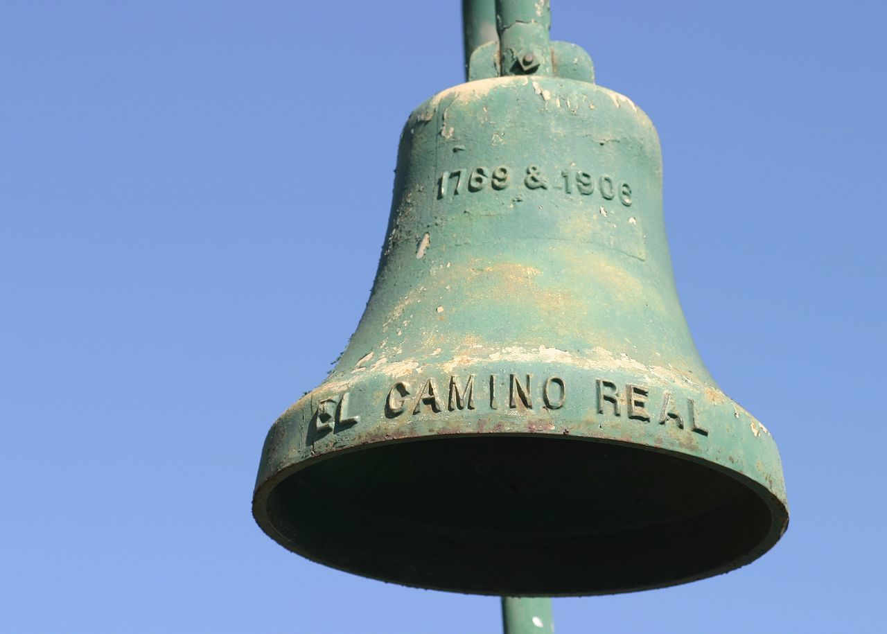 El Camino Real 1769 & 1906 El Camino Real Bell along the El Camino Real in California 101 Antique Bell Blue Bronze California Church El Camino El Camino Real Franciscan Green Meal Metal Mission Missionaries Missions Monkey Old Real Religion Religious  Ring Spanish Steel Travel