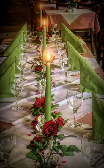 Happy Birthday-Table Arrangement Bouquet Candle Celebration Decoration Drinking Glass Flower Food Food And Drink Indoors  No People Place Setting Table Wineglass