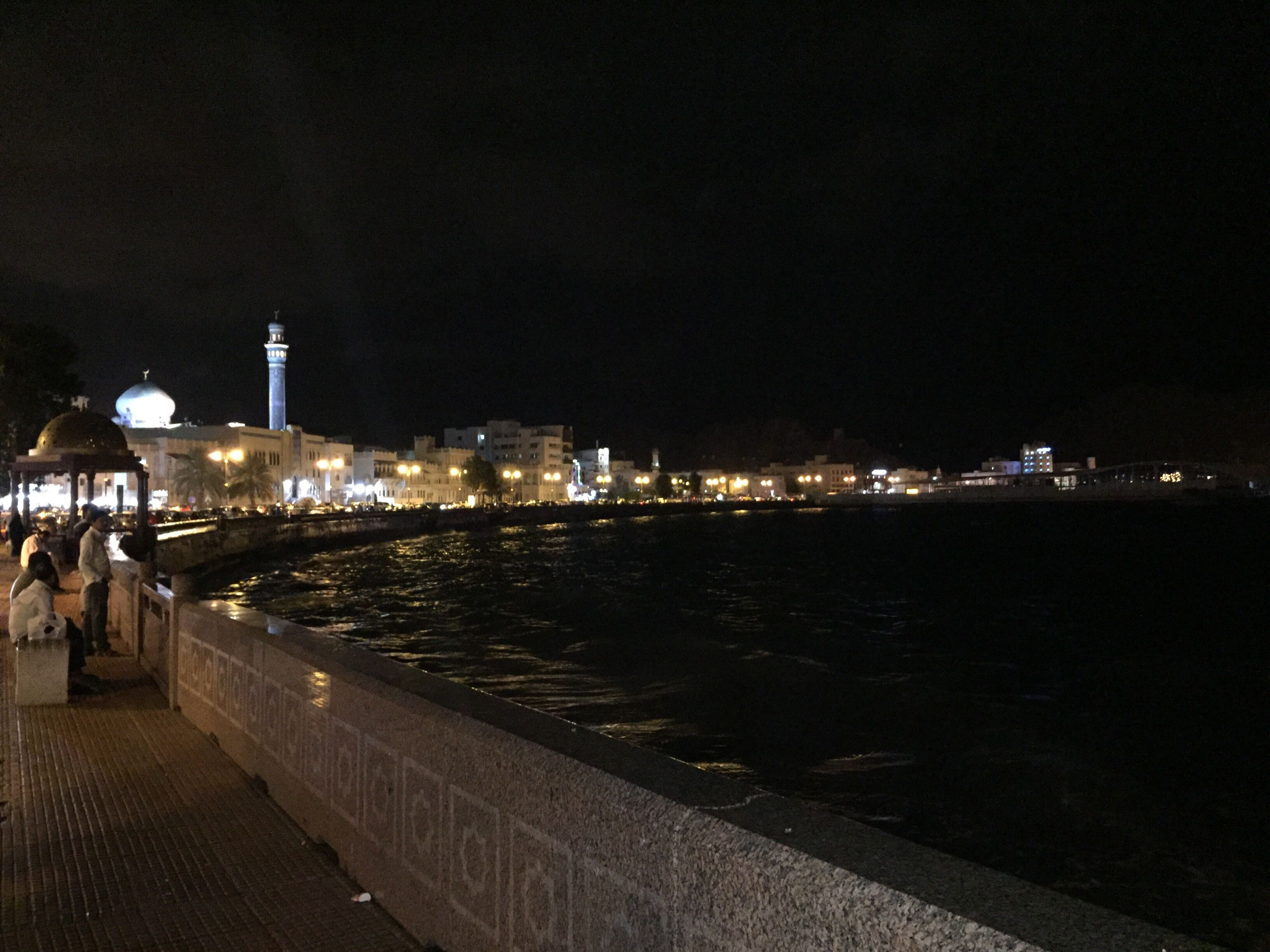 night, illuminated, city, architecture, sky, celebration, water, no people, outdoors, nature