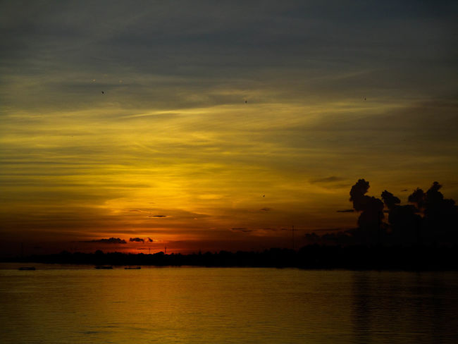 Nong Khai,Thailand. Sunset Reflection Water Dramatic Sky Silhouette Sky Scenics Lake Outdoors Nature Beauty In Nature Cloud - Sky No People Day Photograph Photography Themes Travel Destinations Backgrounds Picture Frame Nature Photographing People Photoart Thailand🇹🇭