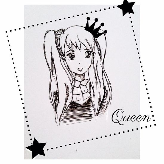 Art Anime Girl Pencil Picture