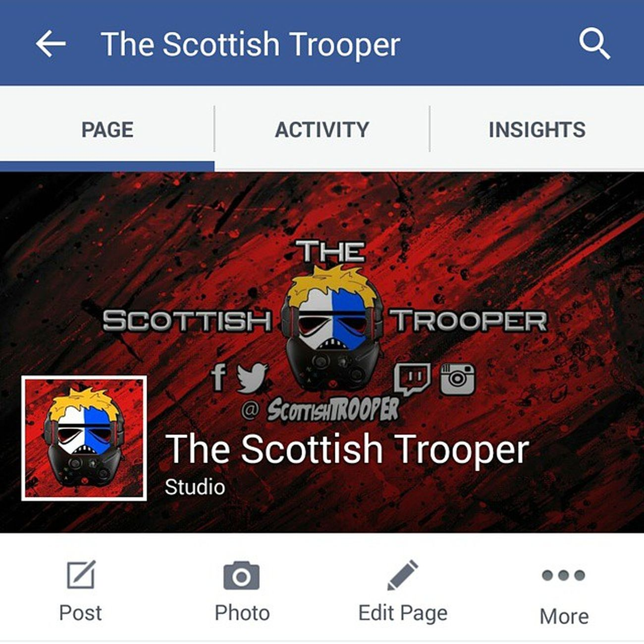 Facebook isnt as popular as it once was.... But it still exists. Like the page 😀 Also follow on Twitter: @scottishTR00PER Twitch: @scottishTR00PER Subscribe on Youtube. Www.youtube.com/thescottishtrooper Major revamp happening to all pages! Be apart of it Nextgen Glasgow  TheScottishTrooper XboxOne nextgen retrogaming elgatogamecapture elgatohd elgato corsair razor gtaonline scotland geek gamerguy gamerdude geekyguy pc pcgamer ps4 psn minecraft mario pokemon battlefield callofduty