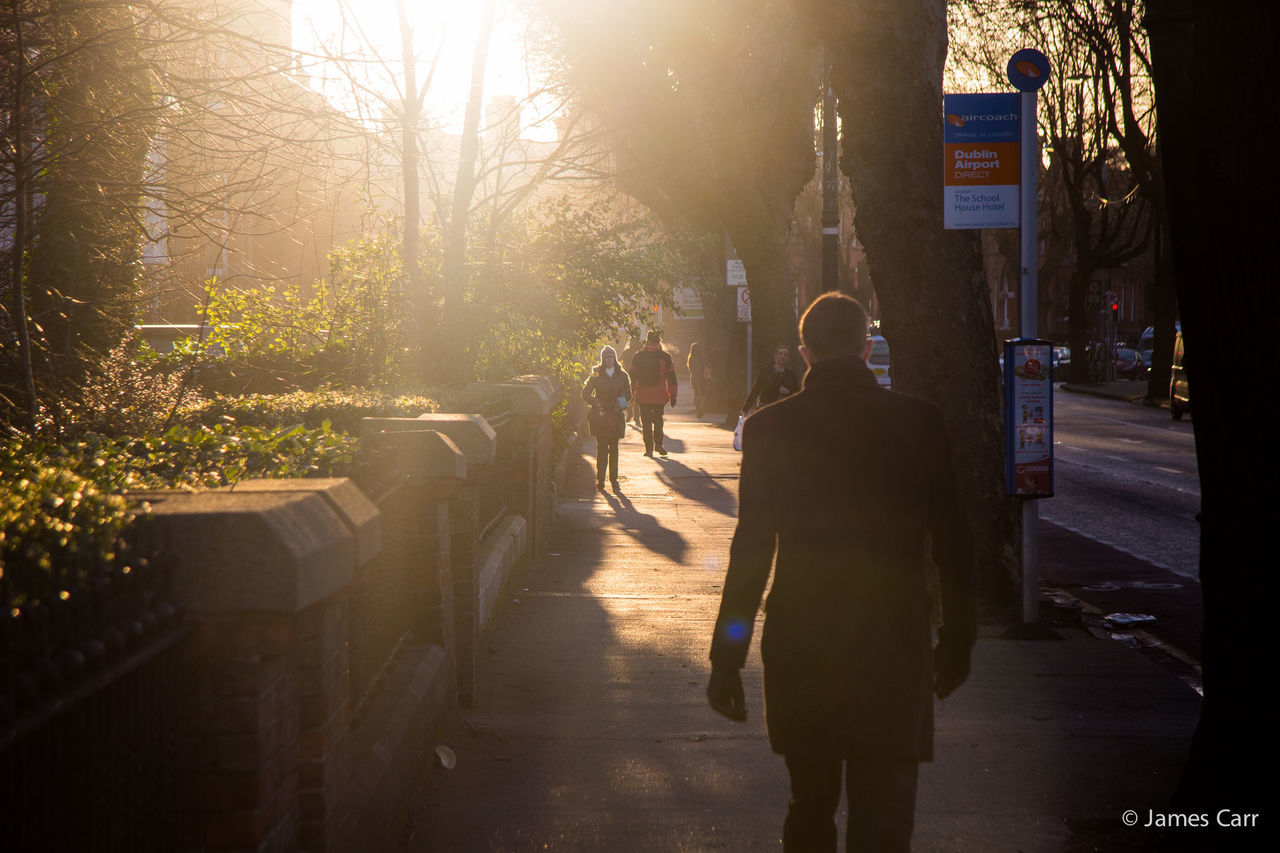 Into the light Dublin, Ireland Daily Commute Morning City Business Walking Winter