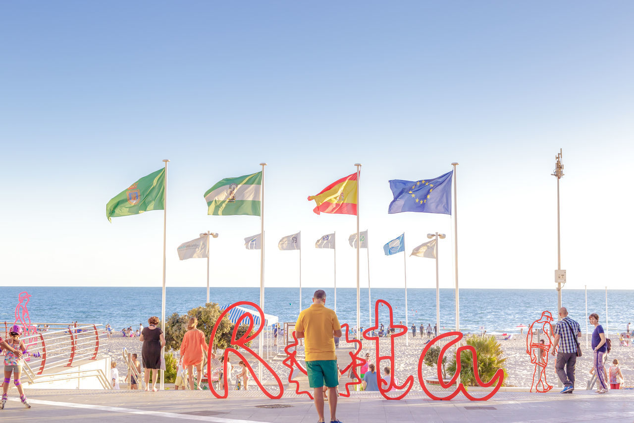 Beach tourism in Spain. Rota, Cadiz. Beaches of andalucia Beach Cadiz City Family Mediterranean  Men Ocean Ocean View Paradise People Promenade Relaxation Resort Rota Sand Sea SPAIN Summer Sunset Tourism Travel Destinations Vacations Walk Water Woman