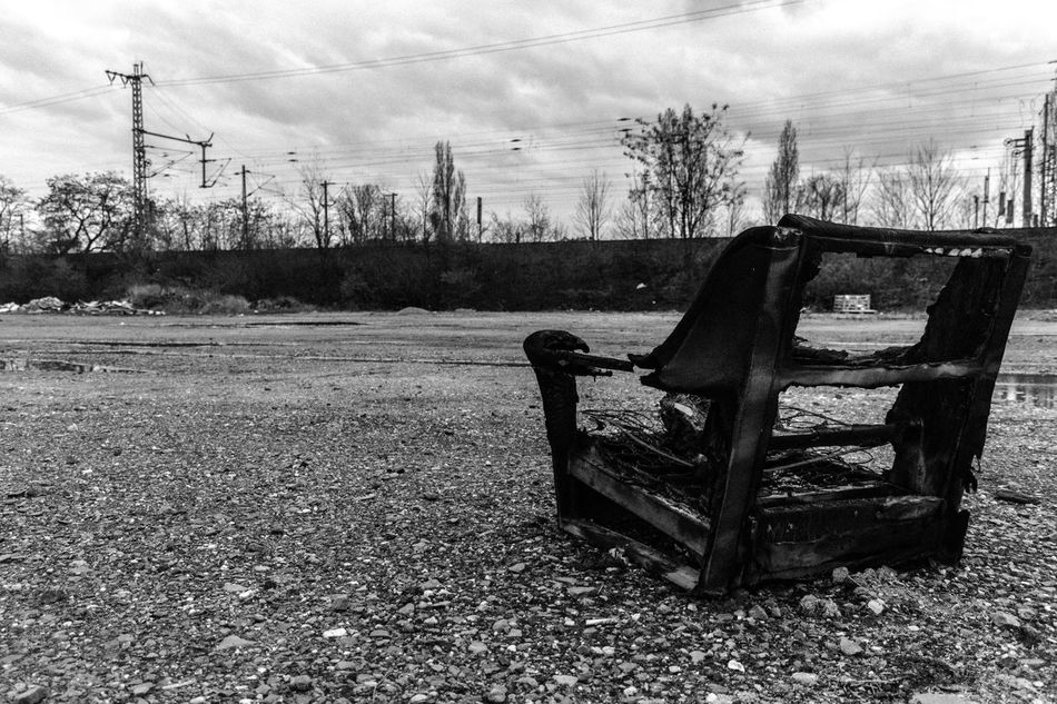 #City #furniture Abandoned Absence Bare Tree Bench Chair Cloud Cloud - Sky Empty Field Grass Landscape Nature No People Outdoors Seat Sky Tranquil Scene Tranquility Tree Wood - Material Showcase April