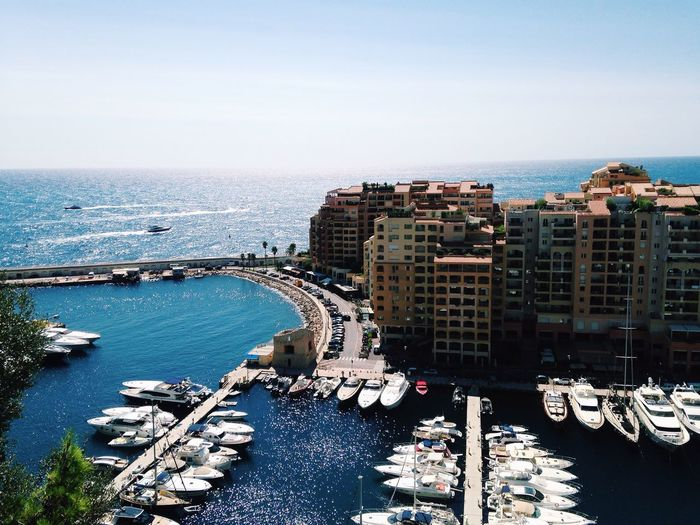 Port Harbour Monaco Boats Sea Côte D'Azur
