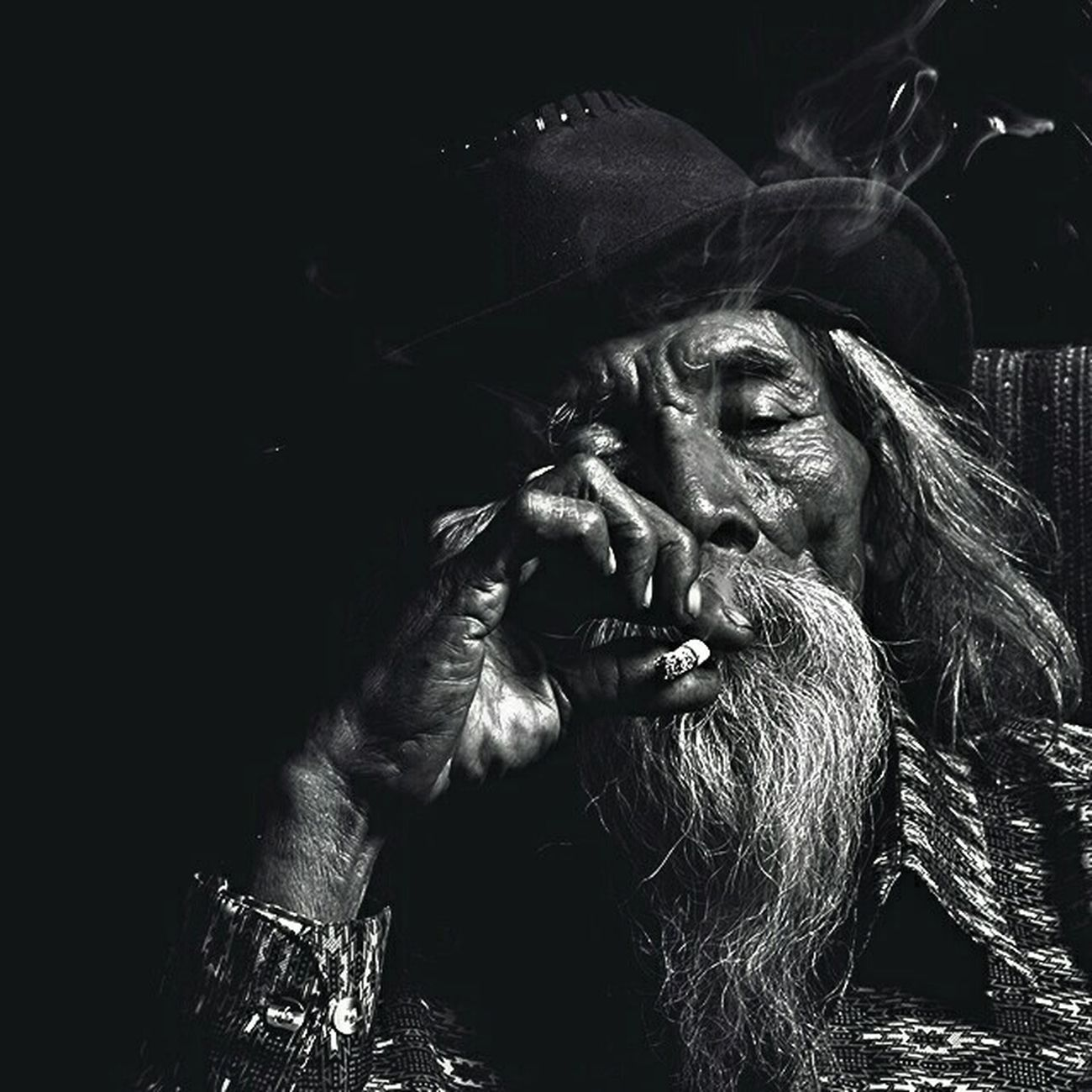 Oldman Potrait Smoke Smoker Black And White First Eyeem Photo Mymoformovember