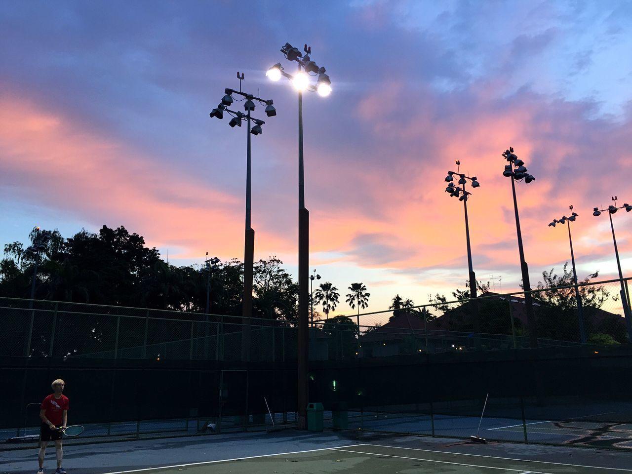 Love game. Sky Cloud - Sky Sunset Sport Tennis 🎾 Landscape_photography Skyline Pretty Pastel Love Illuminated LoveGame