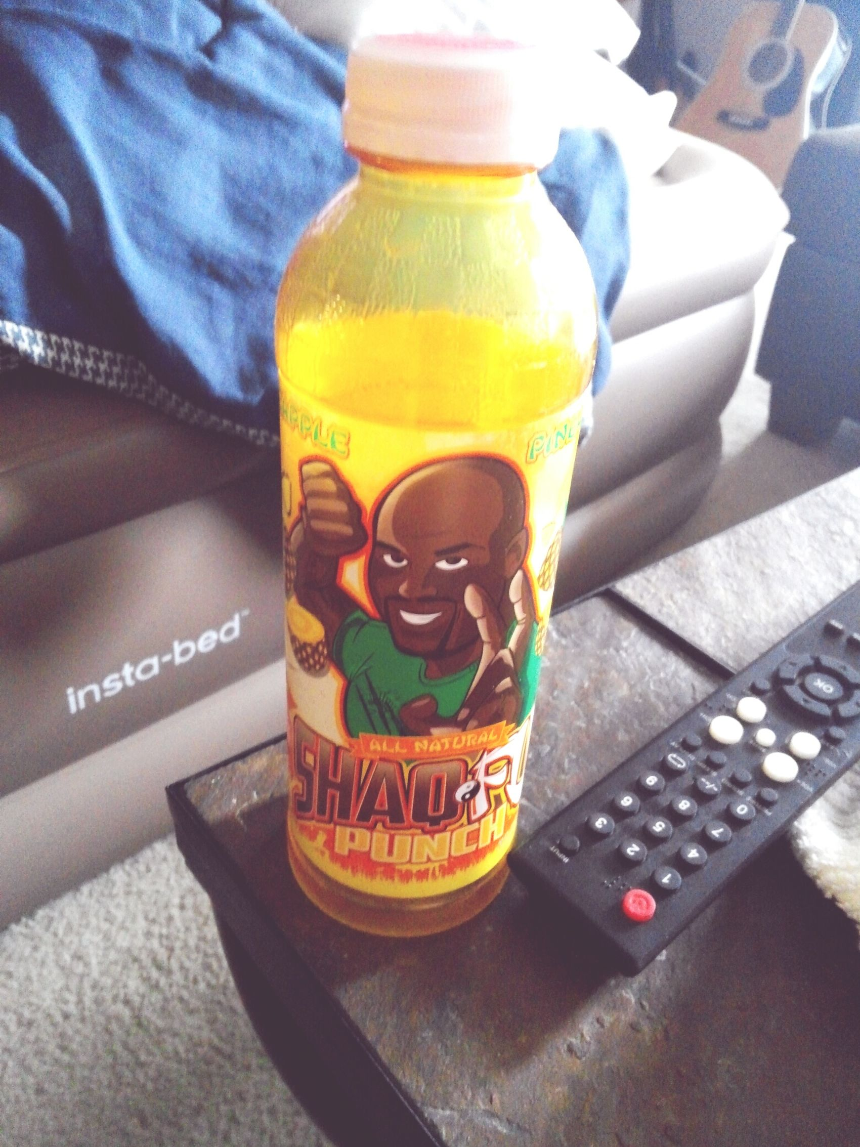 Found this gem last night at a gas station. I HAD to buy it of course. Shaq Shaqfu Arizona Tea Juice