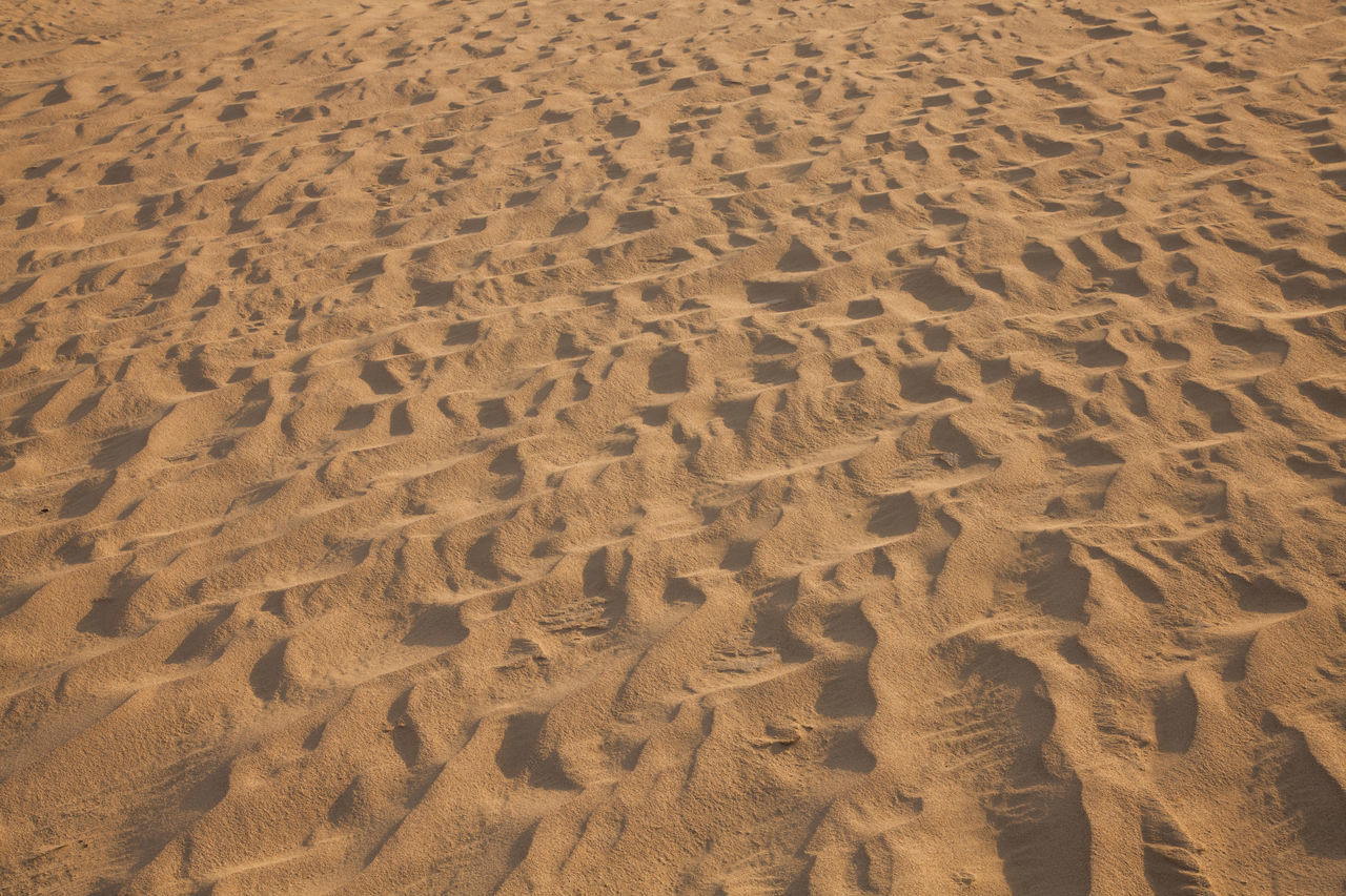 Backgrounds Beach Brown Day FootPrint Full Frame High Angle View Nature No People Outdoors Pattern Sand Sand Dune