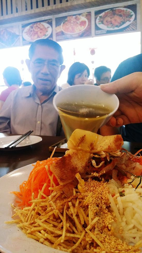 Dad's Birthday this year, coincided with the last day of Chinese New Year. Decided we should have a Lo Hei. Streetphotography Sg_streetphotography My Father 78 Years Old Singapore
