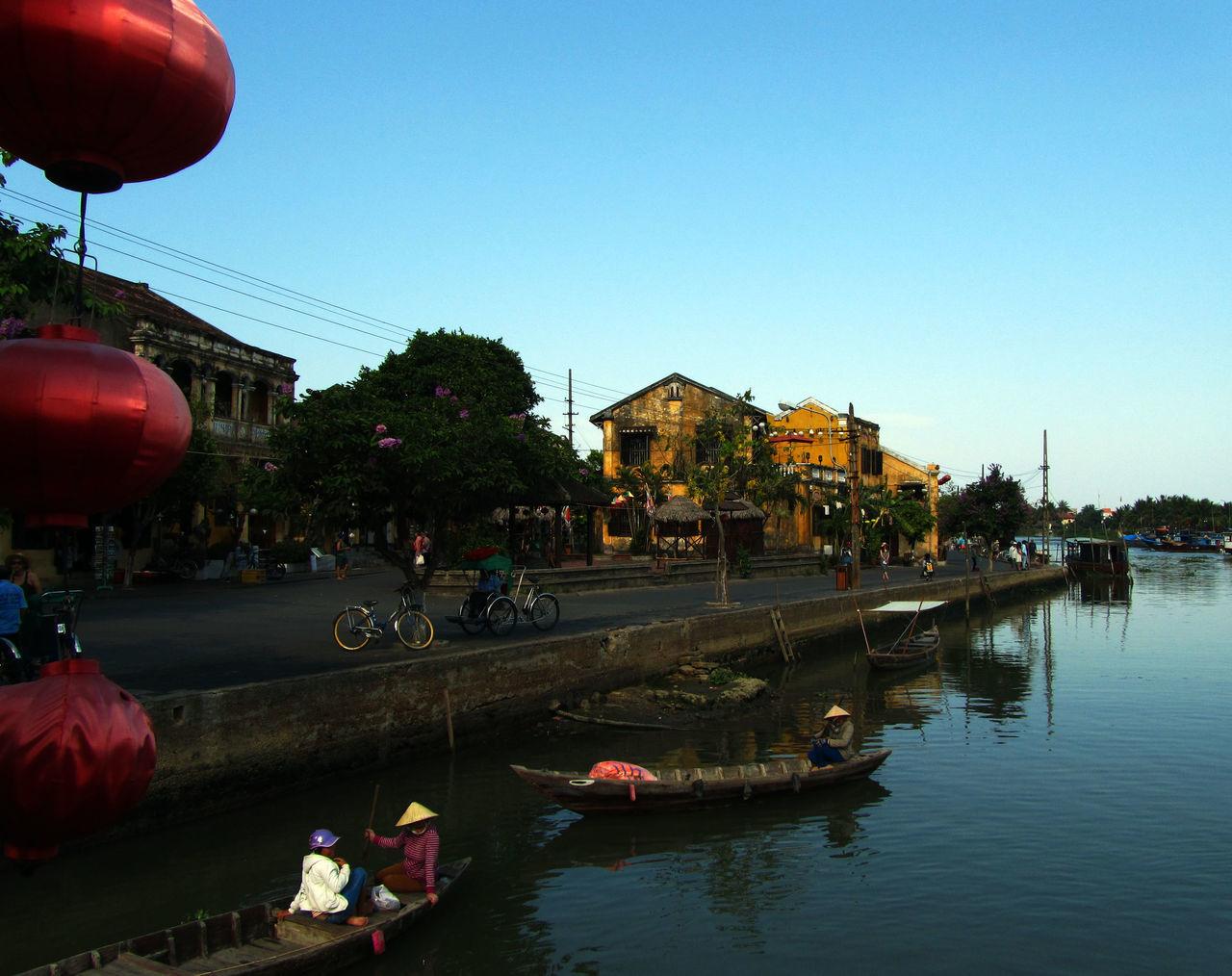 Boat Dusk Hoi An Lanterns River Travel Travel Photography Vietnam World