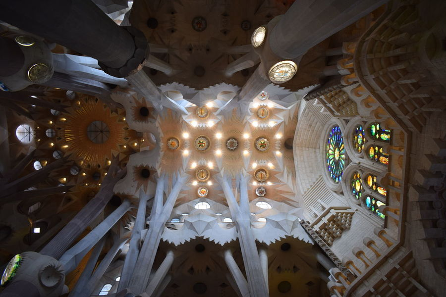 Amaing Church Gaudì Architecture Work Building Sagrada Familia