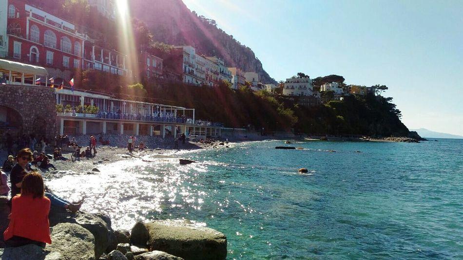 Sea Beach Water Outdoors Day Nature Sky Capri