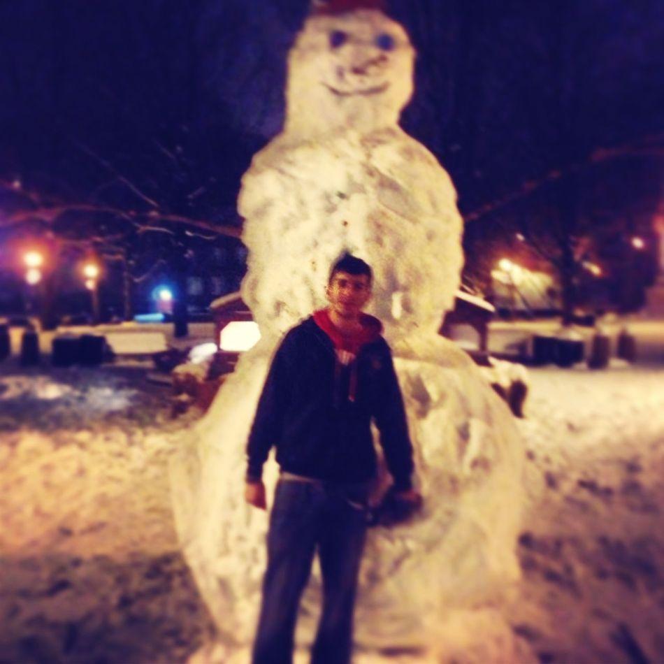 Building Huge Snow Man