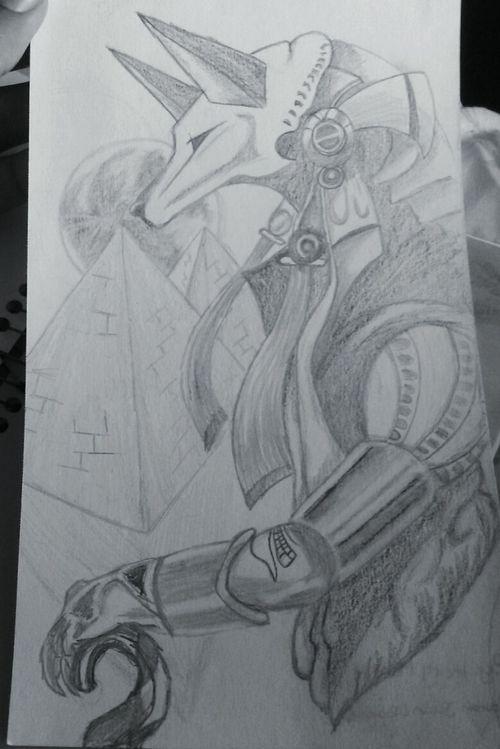 Drawing Egiptian Egiptian Draw Anubis Egipt Moon