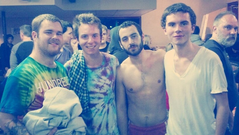 Arthur and I with Adam and Alex from Texas in July