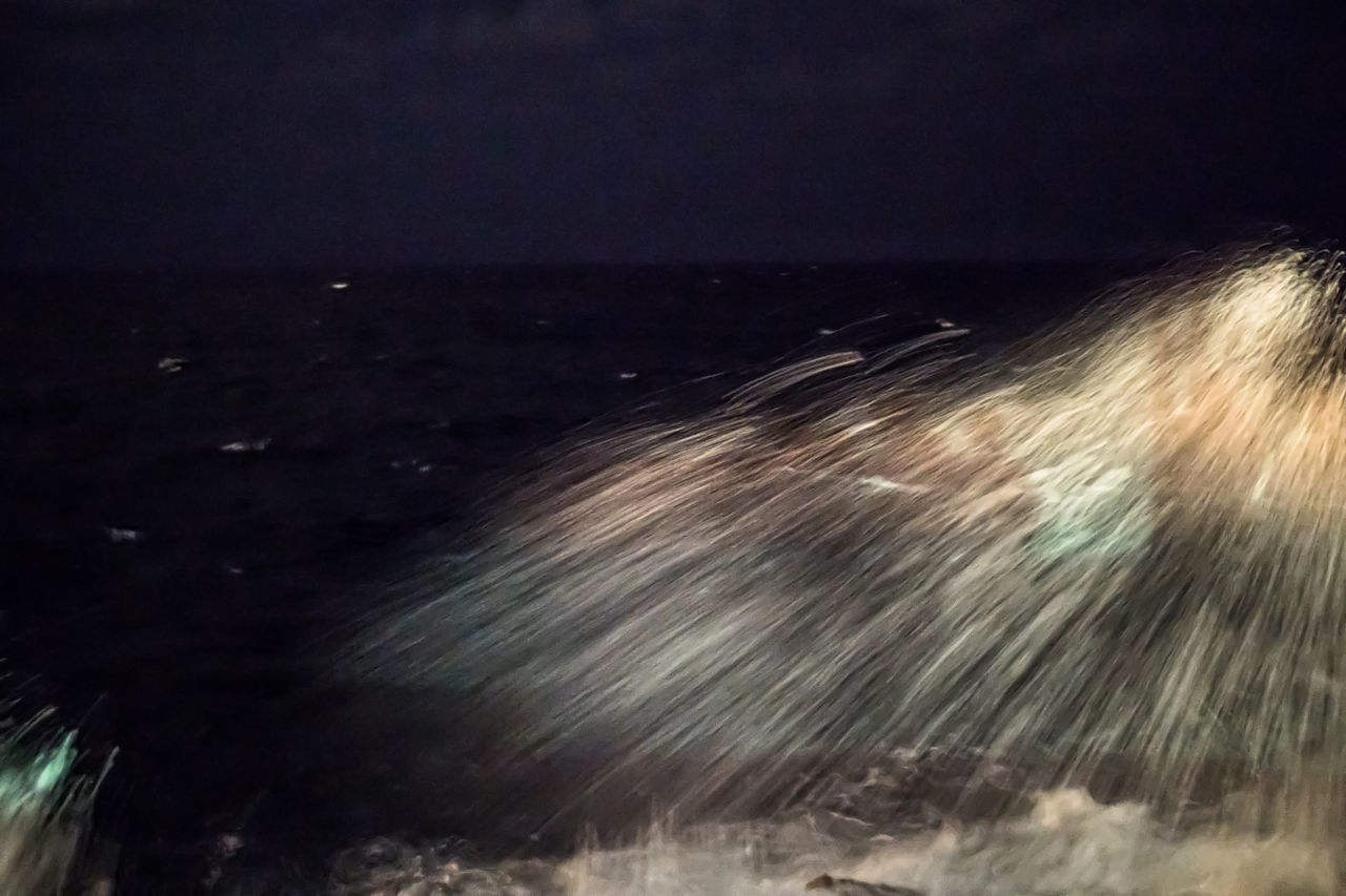 Splashing waves at night Beauty In Nature Blurred Motion Cuba Cuba Collection Horizon Over Water Long Exposure Malecon Motion Nature Night Night Photography No People Outdoors Power In Nature Scenics Sea Sky Speed Splashing Splashing Waves Travelling Photography Water Wave