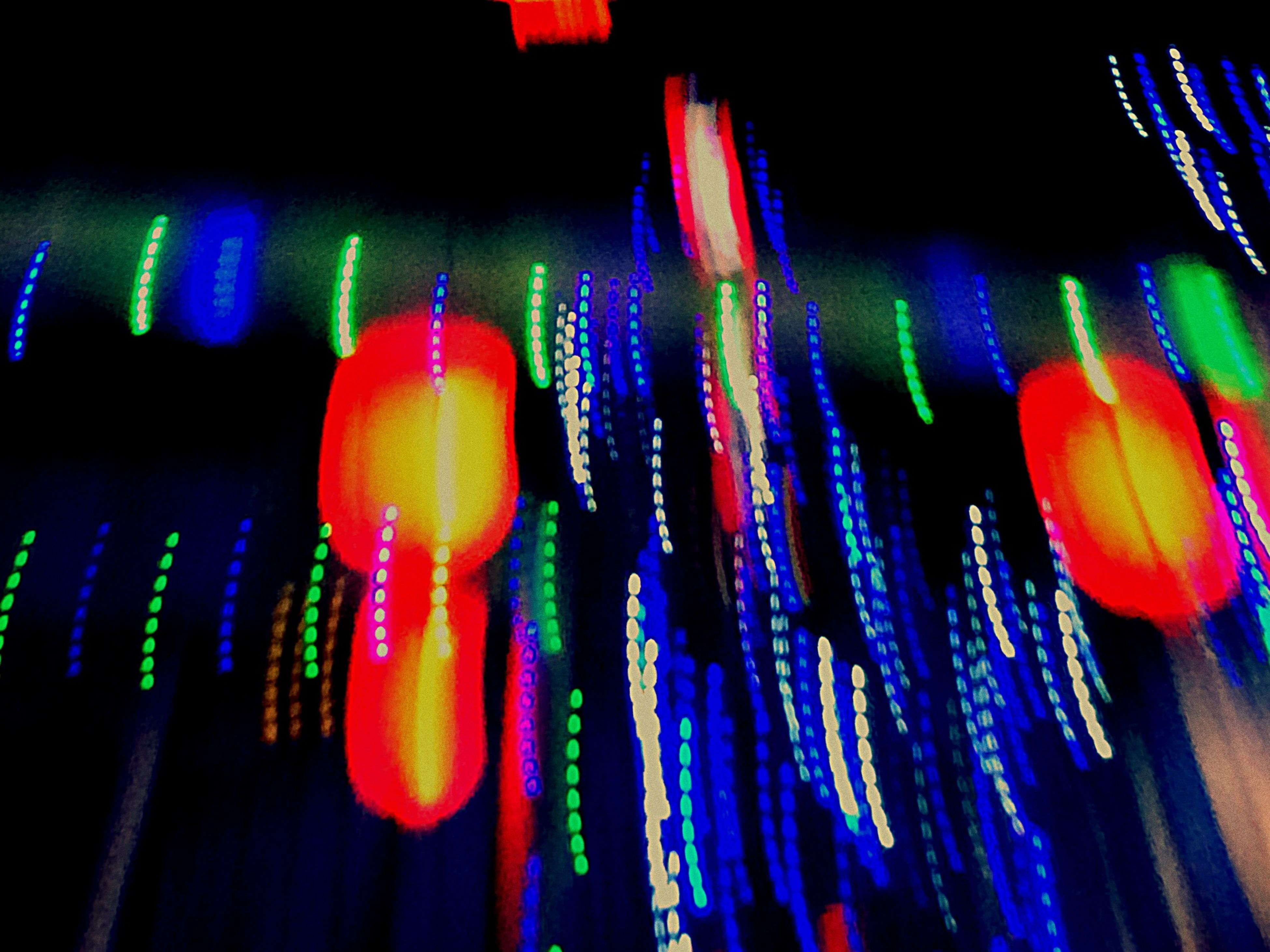 illuminated, multi colored, indoors, night, colorful, hanging, still life, variation, celebration, lighting equipment, decoration, low angle view, large group of objects, close-up, in a row, glowing, light - natural phenomenon, no people, choice, blue