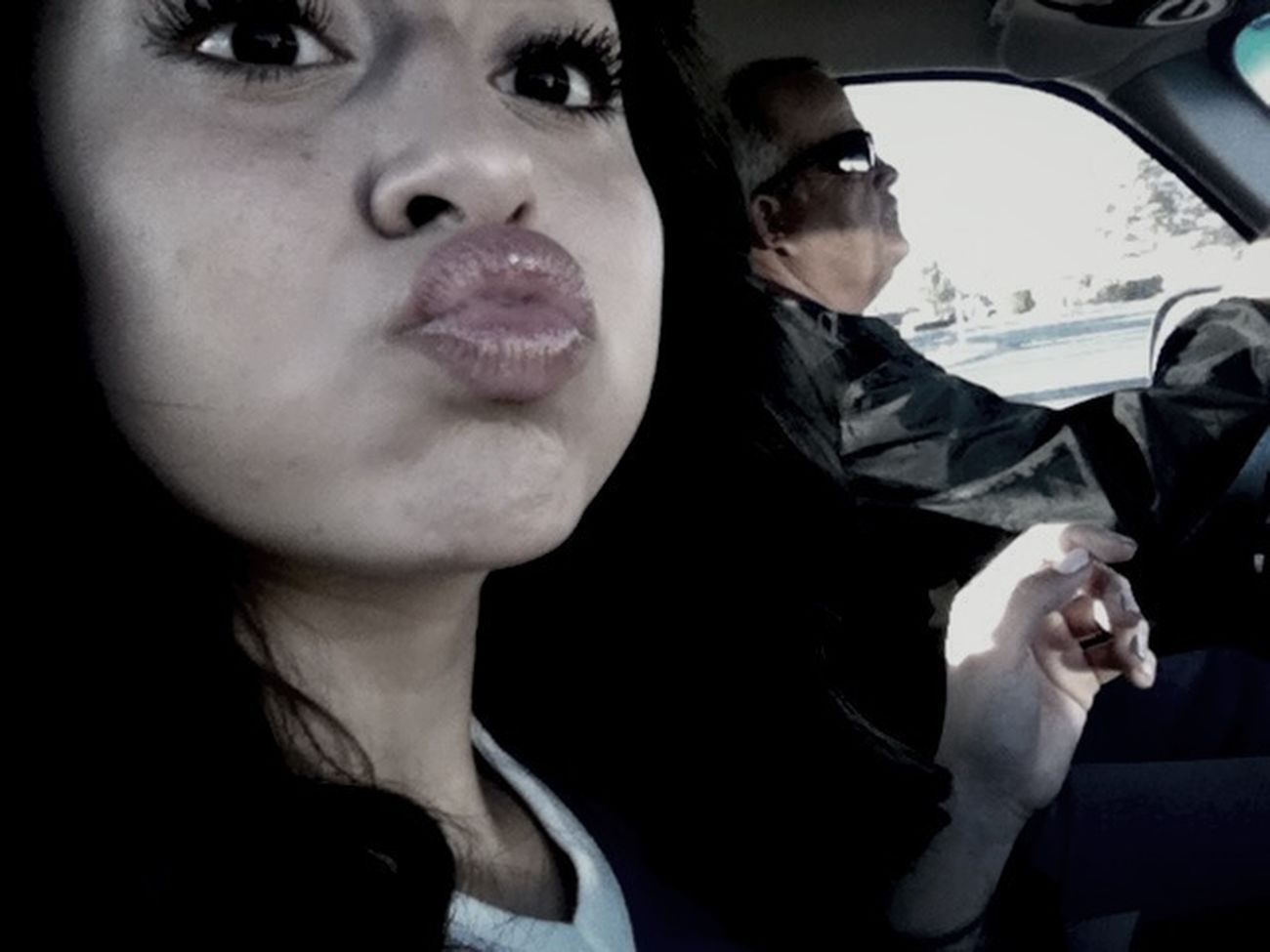 Ew but today in the car. Happy valentines day(':