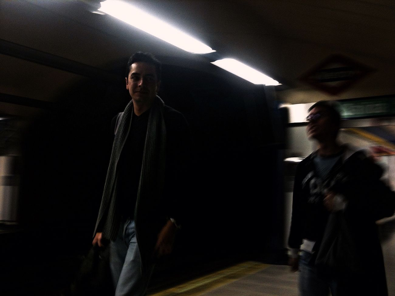 Subway at Line 1 EMT Madrid Subway