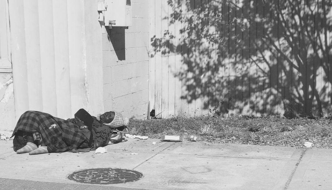 Homeless in Jacksonville Florida Homeless Black And White Sad Speaks For Itself Street