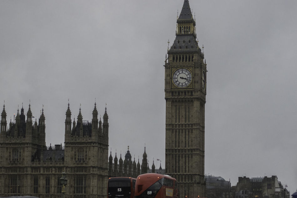 London, January 2017 City Travel Destinations Cultures Architecture Clock Tower Tower Built Structure Politics And Government Tourism History Government Sky Outdoors Bridge - Man Made Structure Politics Clock Face Clock Cityscape Day Parliment Bigben London England Londonbus Redbus