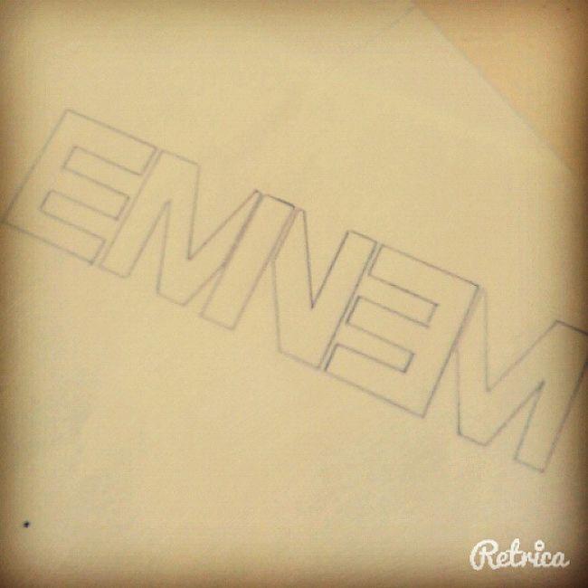EMINEM Logo Eminem Eminemlogo Draw Art slimshady like like4follow retrica picoftheday