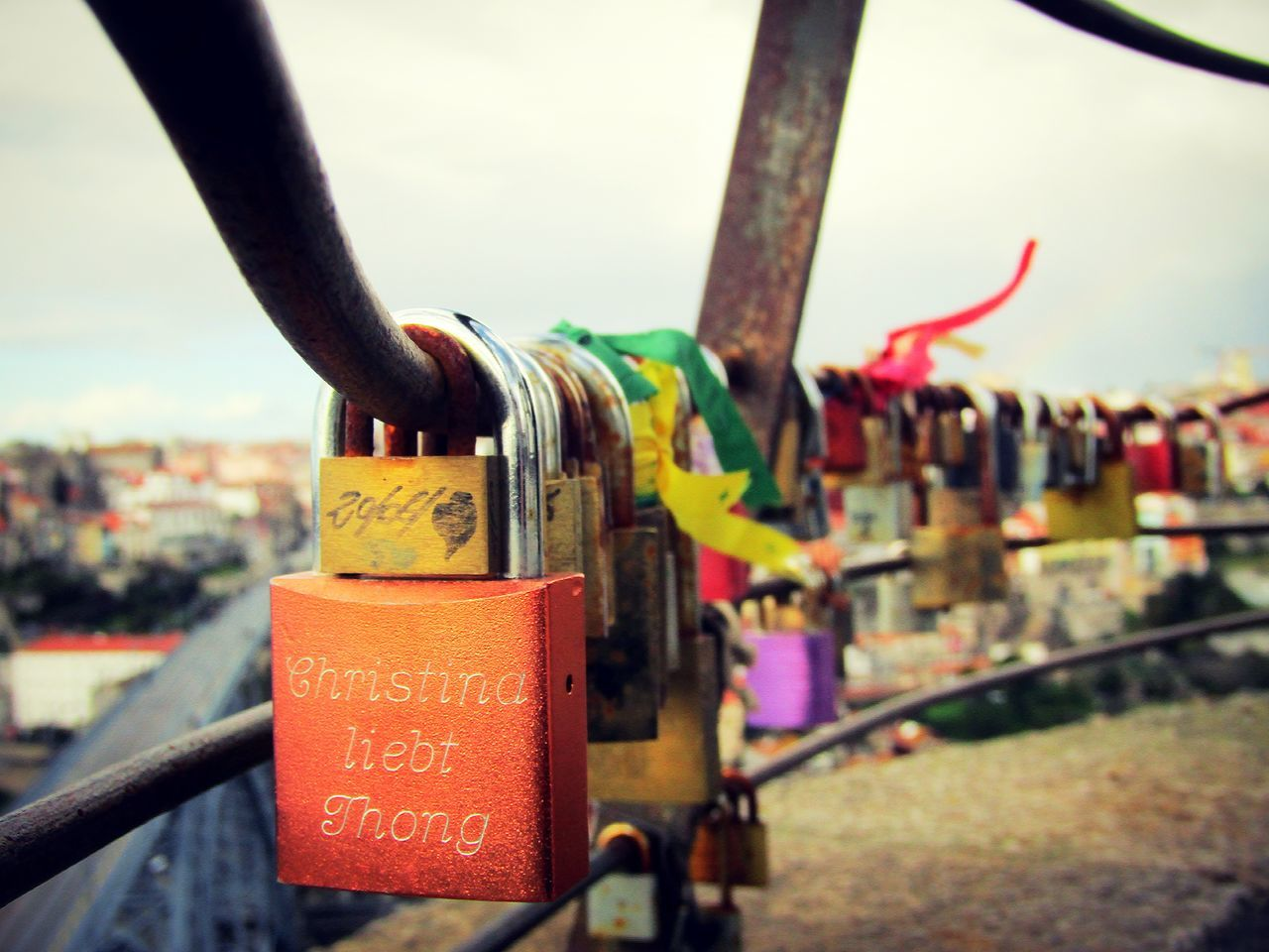 Love is Forever Gaia Porto Portugal Love Lokers. Serra Do Pilar Outdoors Love Lock Metal Day Winter Canonphotography Photograph Photography Unique Places Text