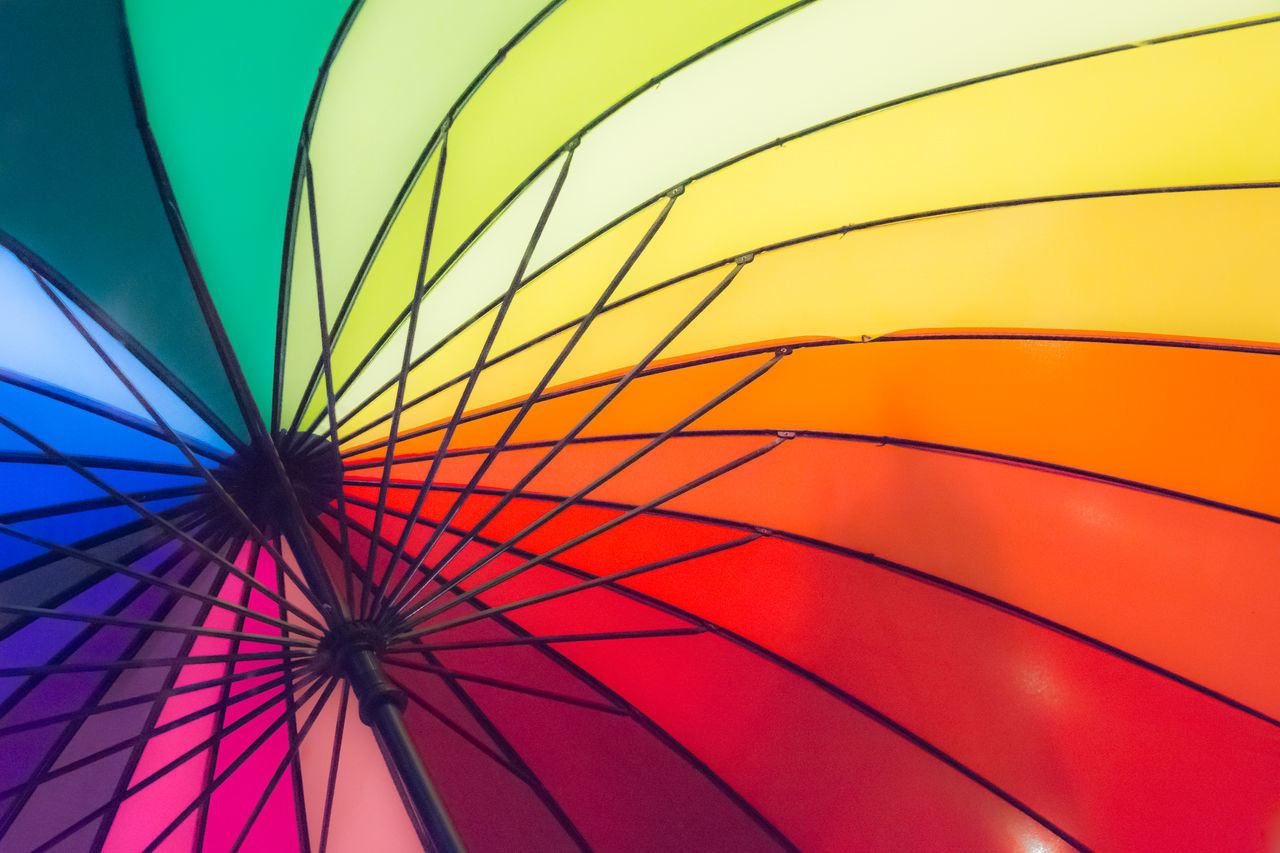 Close-up Day Low Angle View Multi Colored No People Outdoors Protection Sky Umbrella