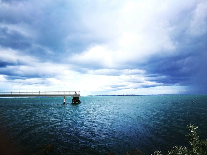 Calm Water Melbourne Relaxing Moments Beach Walk Beauty In Nature Cloud - Sky Horizon Over Water First Eyeem Photo