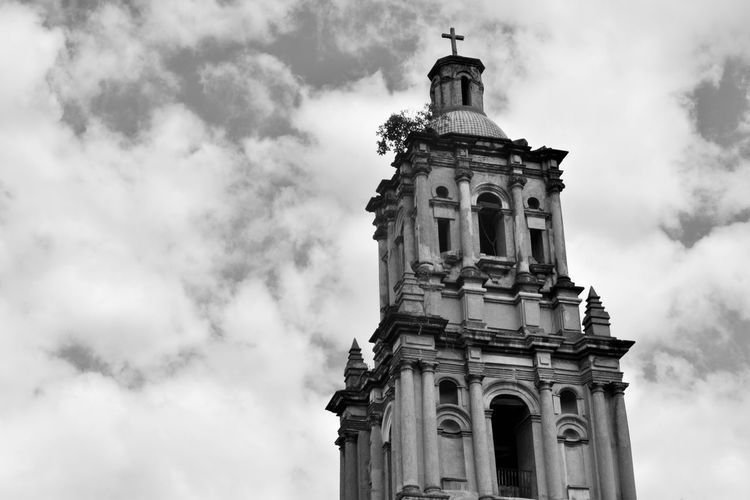 Architecture Cloud - Sky Building Exterior Churches Tower Antique Postcolonialism Mexico City Spanishheritage