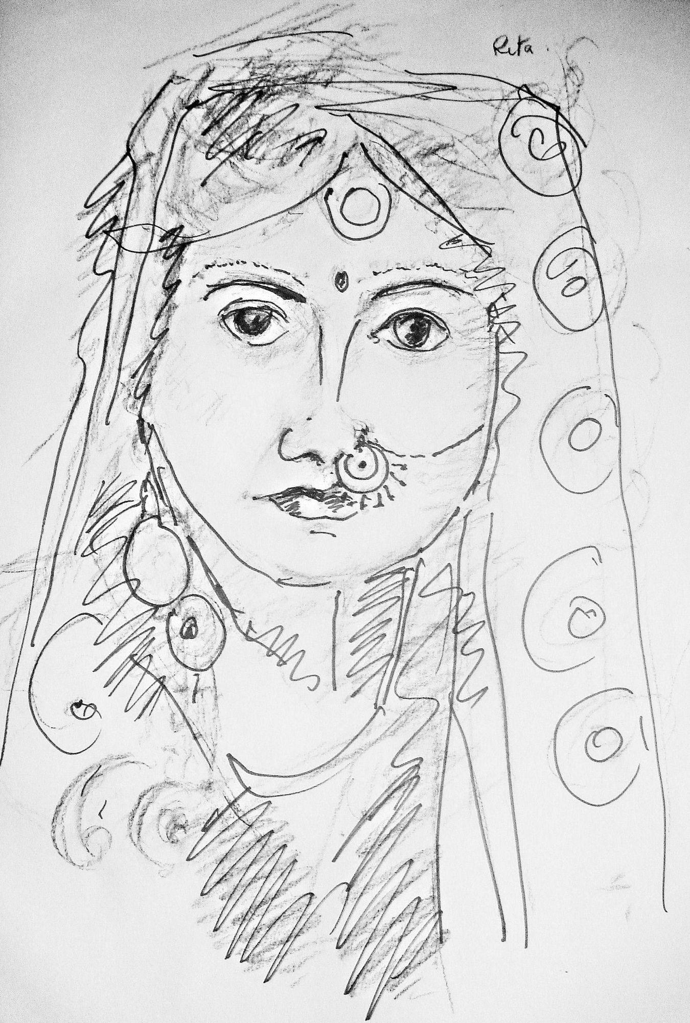 Asian Bride  Wedding The Purist ( No Edit, No Filter ) Drawings Portrait