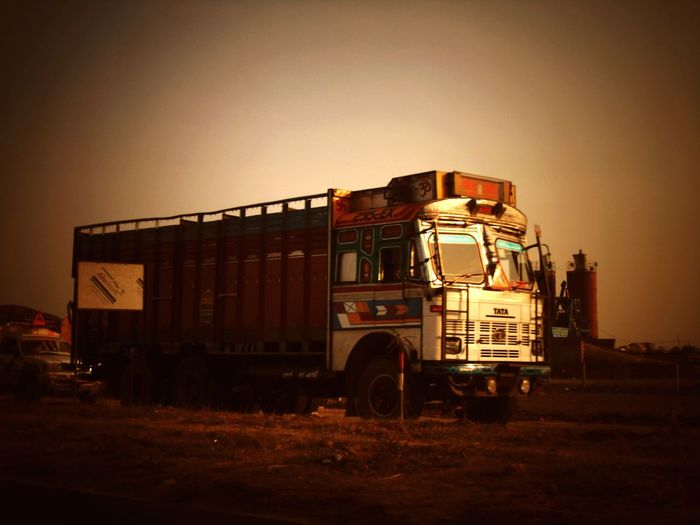 Indian Truck Transport Vehicle Outdoors no people sky day