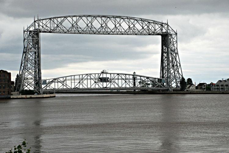 Bridge Architecture Girders Water Harbor Shipping  Duluth Minnesota Hidden Gems