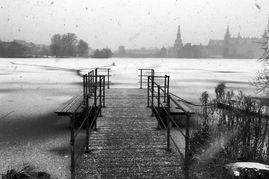 Hillerød Frederiksborg Slot Ice Water Cold Temperature Day Fog Outdoors Nature Winter Sky Tree