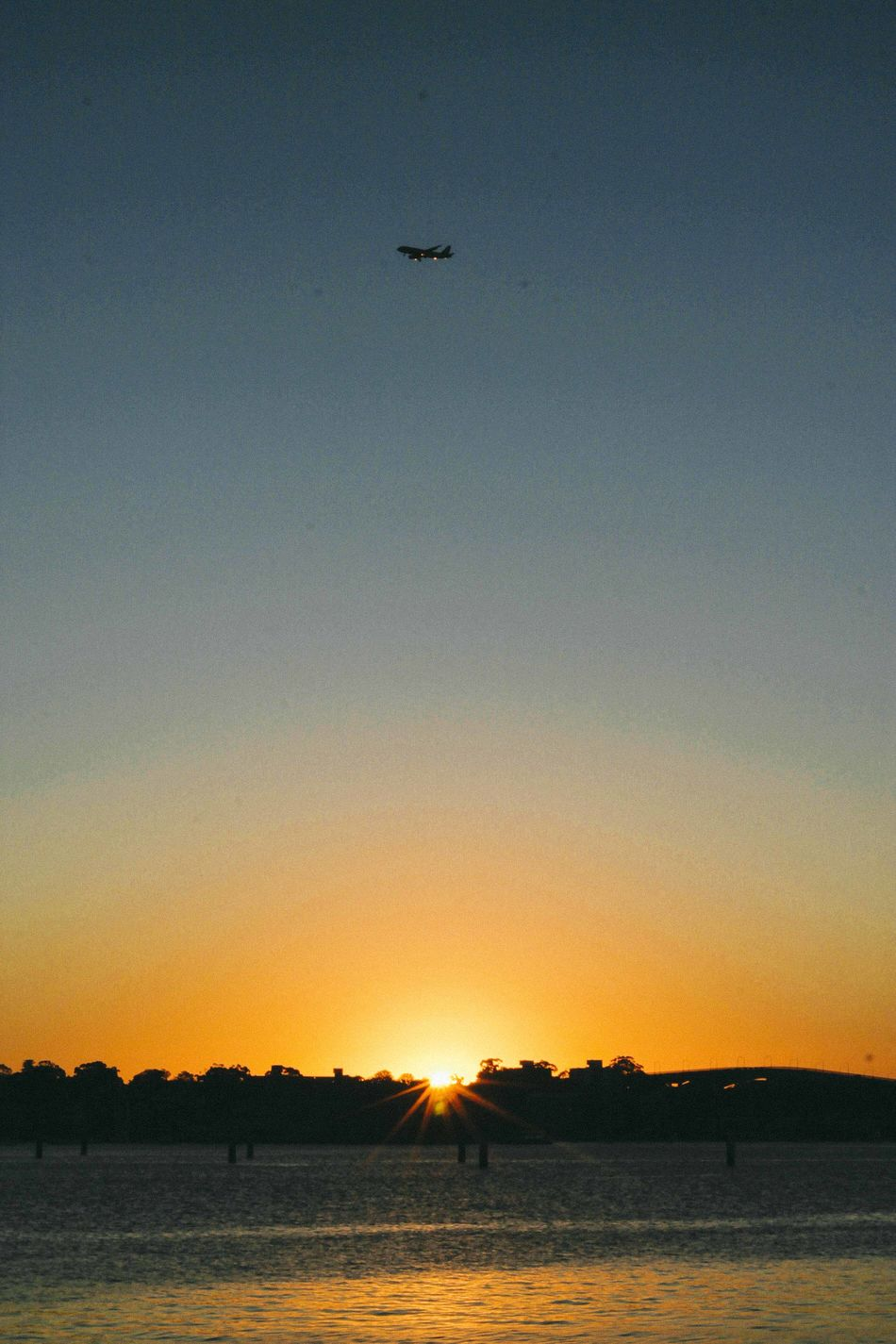 Airplane Beauty In Nature Clear Sky Day Flying Nature No People Outdoors Silhouette Sky Sunset