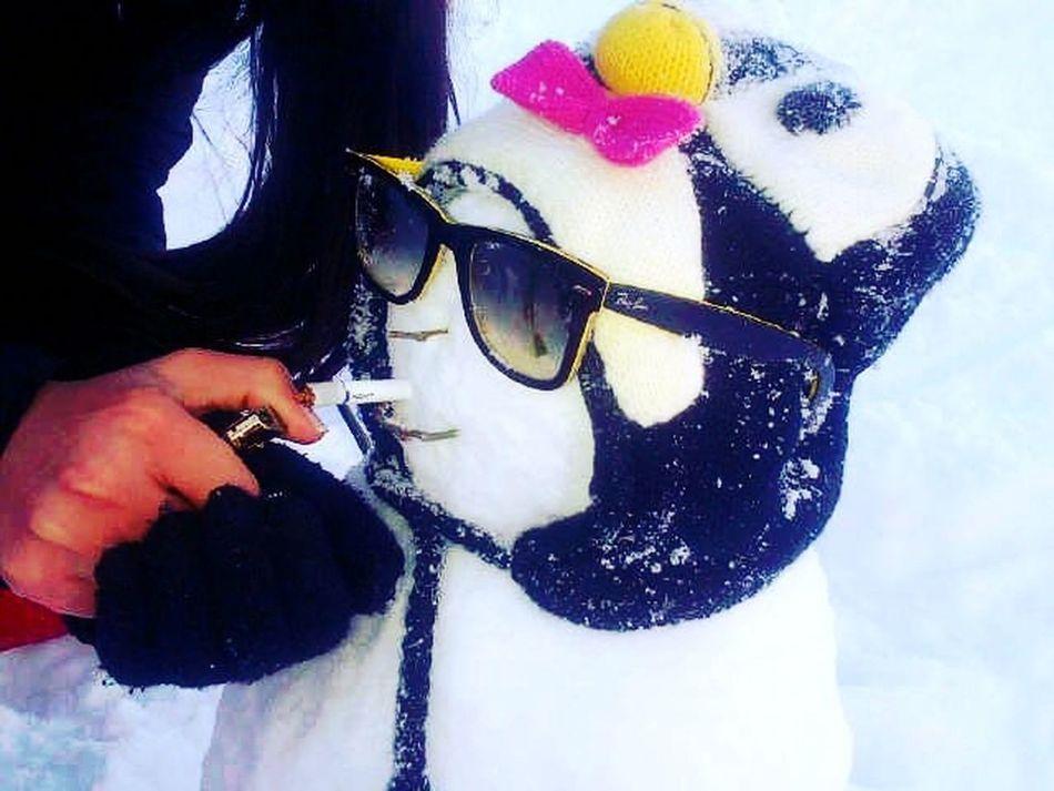 snowman at faraya Snowman