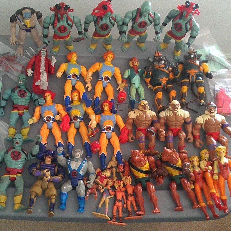 My Collection of Vintage Thundercats , various conditions. 80stoys Ilovethe80s Collectibles 80schild Actionfigures Toys4life 80scartoons Ljn Toycommunity Vintagetoys Toycollector