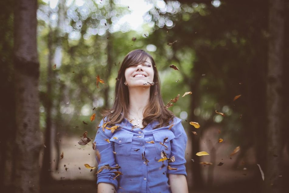 Beautiful stock photos of smile, Autumn, Blue, Casual Clothing, Caucasian Ethnicity