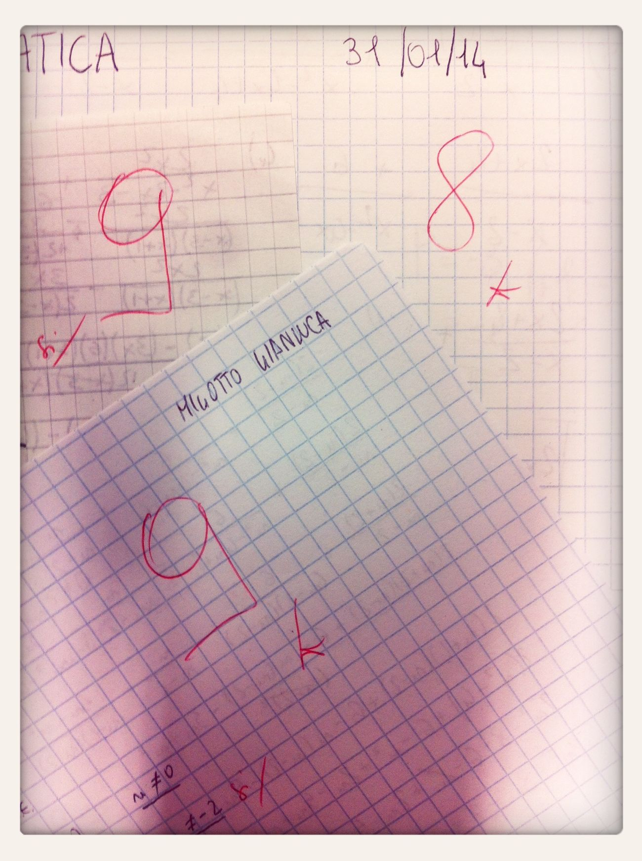 We are so swag! Beautiful mark in math's test! School Students