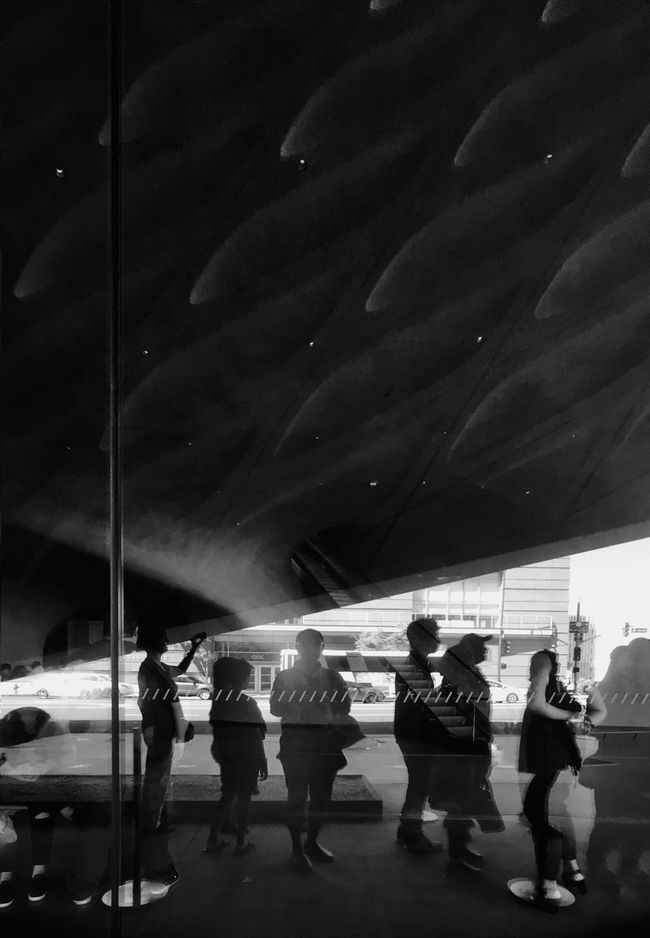 Monochrome Photography The Broad Museum Reflection Self Portrait Architecture