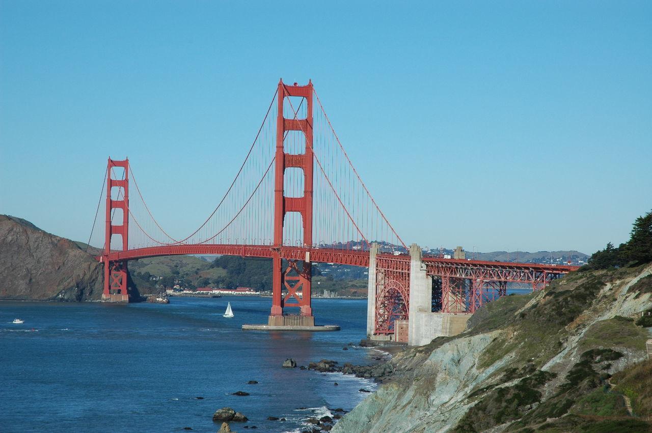 Beautiful stock photos of san francisco, Architecture, Beauty In Nature, Blue, Bridge