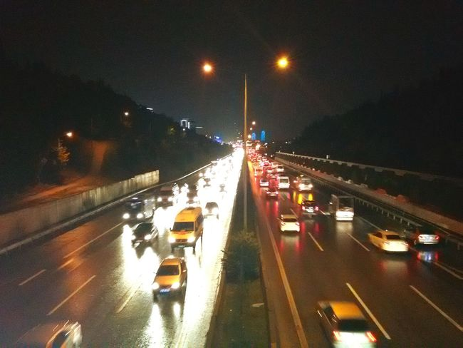 Turkey ıstanbul Bostancı On The Way Home Raining Nightphotography