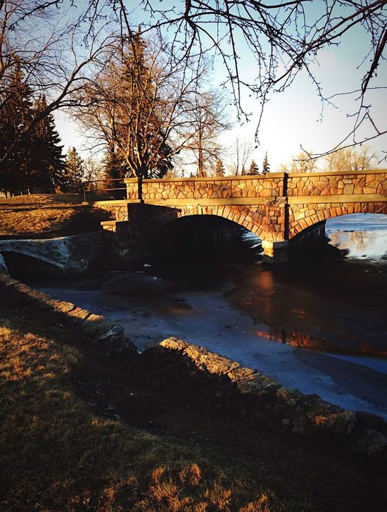 Landscape Bridge Bridge - Man Made Structure River Architecture Water Built Structure Outdoors No People Nature Sky Setting Sun