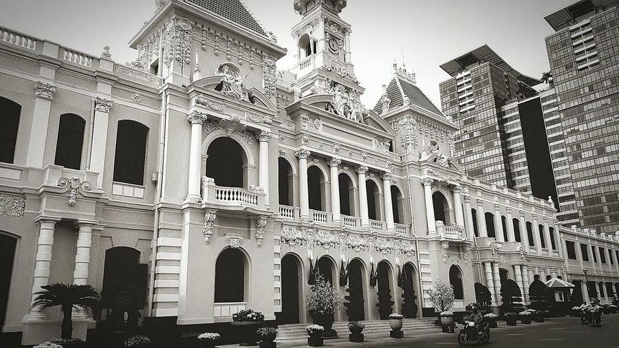 Saigon city hall Vietnam Saigon Ho Chi Minh City Architecture Frenchcolonial City