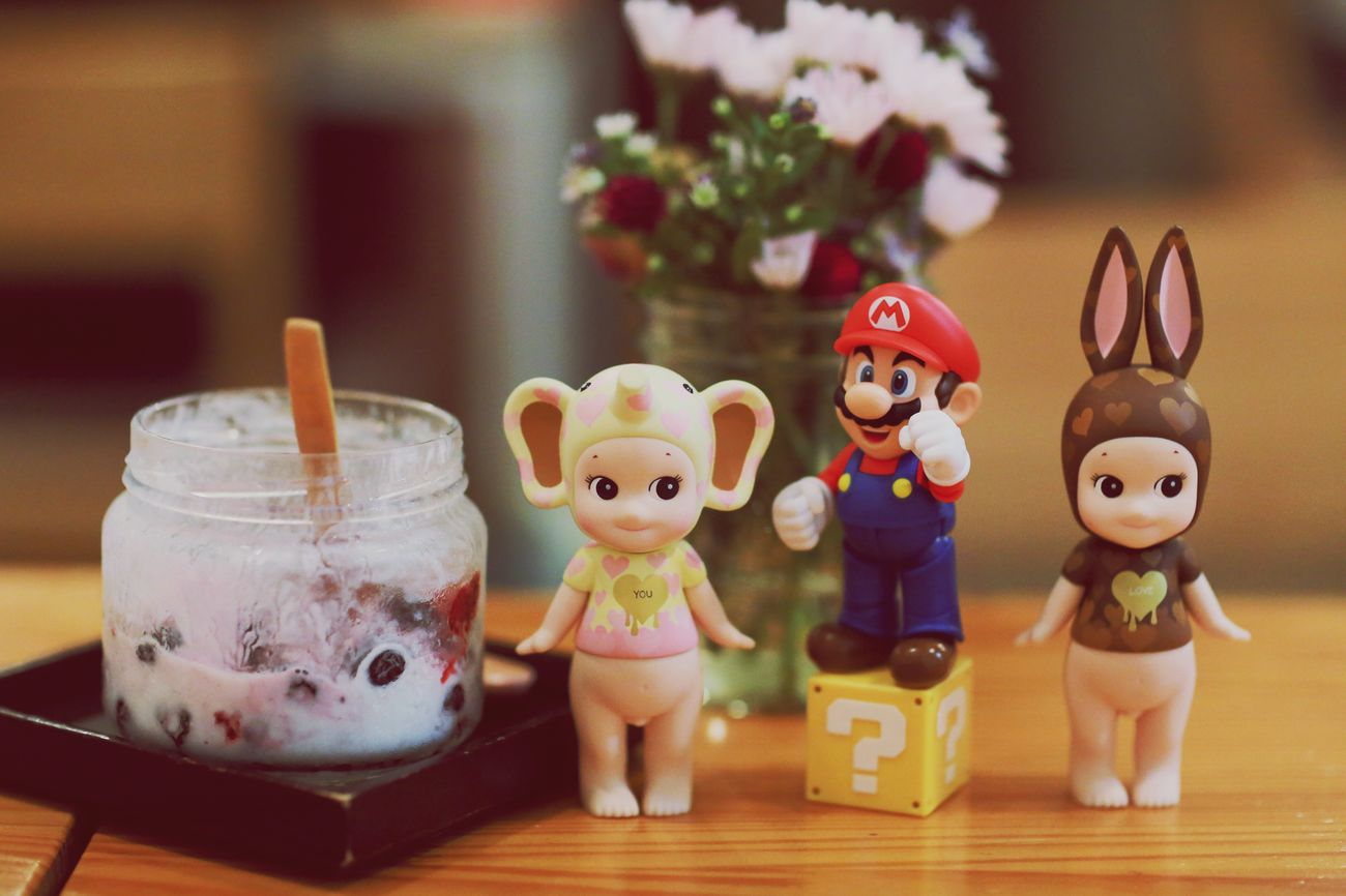 Super Mario Sony Angel Ice Cream Figure Figurephotography Toy Toy Photography EyeEm Best Shots Freshness EyeEm Cafe Kidult Cute Table Setting Mario EyeEm Best Edits