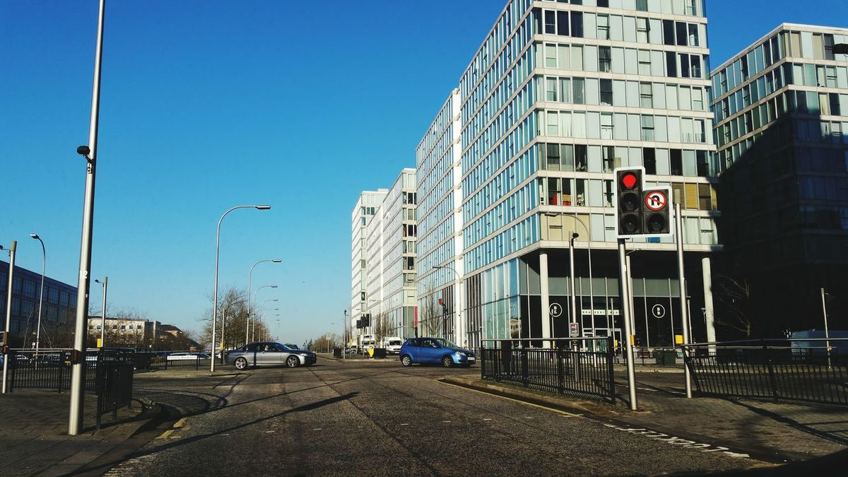 City Clear Sky City Life Architecture Urban Road Outdoors Human Eye Day People Milton Keynes England Mkhub The Hub Traffic Lights Traffic Urban Lifestyle Urban Living Garden City Samsung Galaxy Note 4 Office Blocks Busy World!  EyeEmNewHere Investing In Quality Of Life