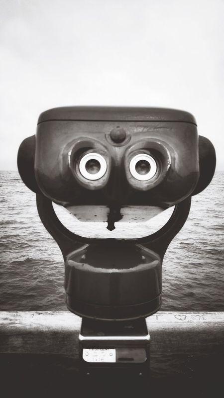 Coin-operated Binoculars Binoculars Telescope Sea No People Water Close-up Day Anthropomorphic Face Hand-held Telescope Outdoors Nature Sky