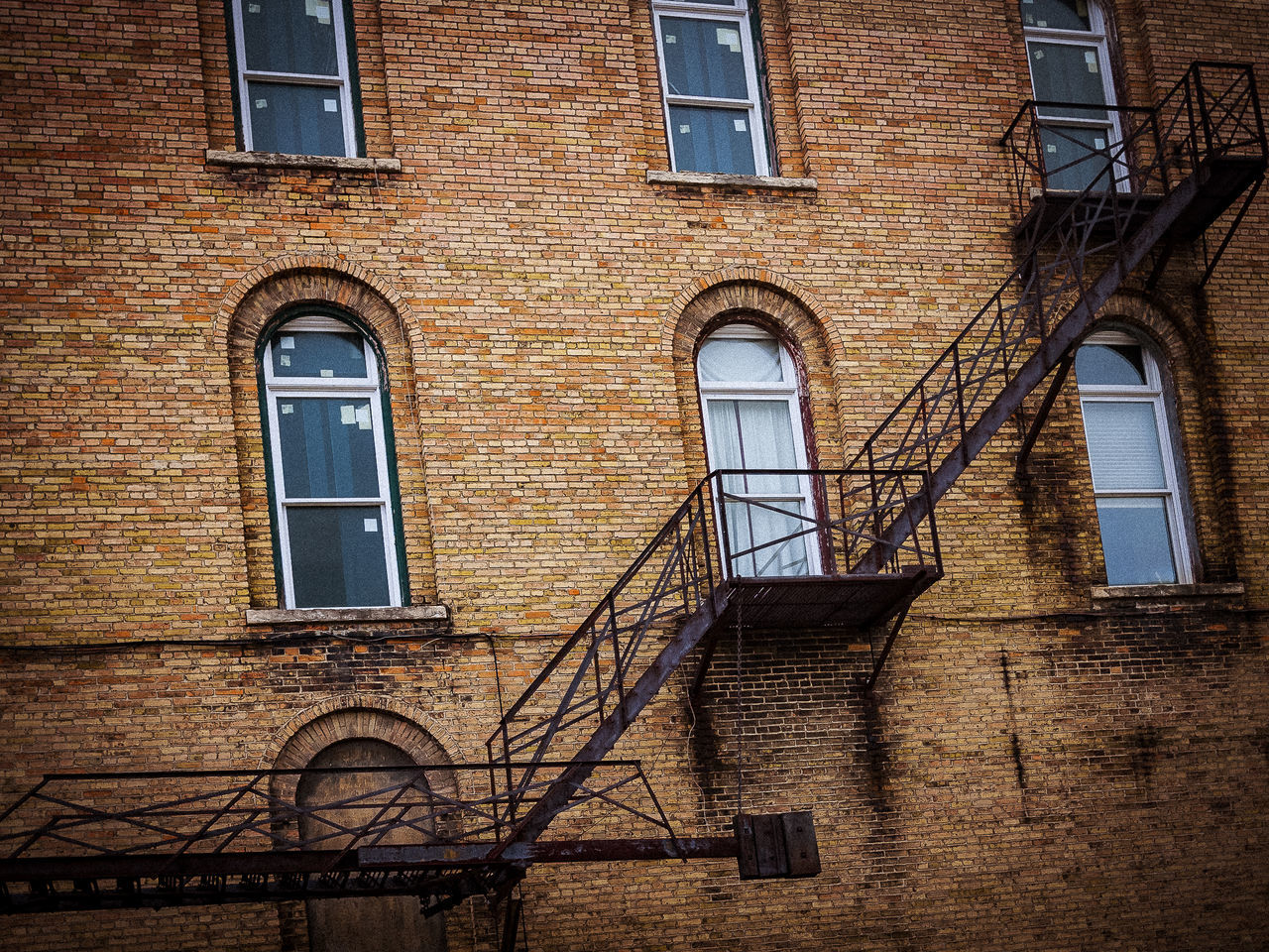 Architecture Bricks Building Exterior Built Structure Day Fireescape Lines And Angles No People Outdoors Rust Shapes And Forms Steps Steps And Staircases Window Fresh On Eyeem